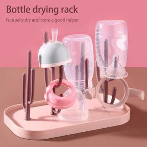 Abilieauty Biberon Lot de pinceaux de nettoyage /à 360 degr/és en silicone pour bouteille de voyage domestique rose