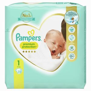 COUCHE PAMPERS Premium Protection New Baby - Taille 1 - 2