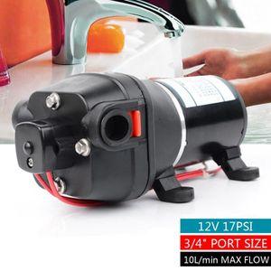Min Pompe /à Eau Pompe /à Pression Pompe /à Membrane pour Yacht Caravan Garden OUKANING 12V 10L