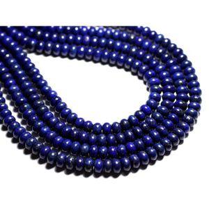 Perles de Pierre Lapis Lazuli Mat Sablé Givré Boules 4mm Fil 39cm 90pc env