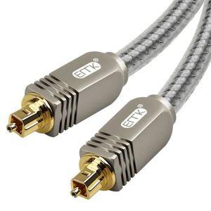 CÂBLE TV - VIDÉO - SON Ototon® 15M Câble Optique Audio Numérique Nylon Tr