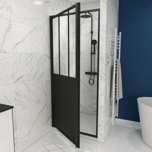PORTE DE DOUCHE Paroi de douche à porte pivotante type atelier - 9