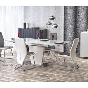 TABLE À MANGER SEULE TABLE A MANGER RECTANGULAIRE EXTENSIBLE  – L : 160