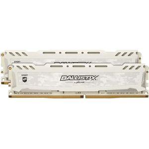MÉMOIRE RAM Crucial Ballistix Sport LT series weiß, DDR4-3200,