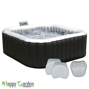 SPA COMPLET - KIT SPA Pack spa gonflable 158cm carré - 4 places + 2 appu