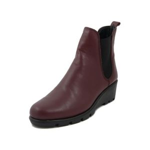 BOTTINE THE FLEXX, Bottine femme en cuir lisse Bordeaux, B