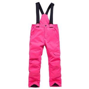 PANTALON DE SKI - SNOW Pantalon de Ski Enfant Fille-Garcon Taille Élastiq