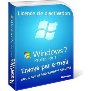 CLAVIER POUR TABLETTE La clé d'activation Licence Windows 7 Professionne
