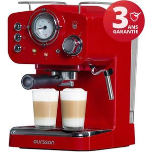 MACHINE À CAFÉ Oursson Machine à expresso pour poudre & Pads, 3 A