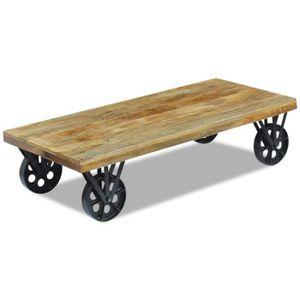 TABLE BASSE Table basse en bois style contemporain Table de Sa
