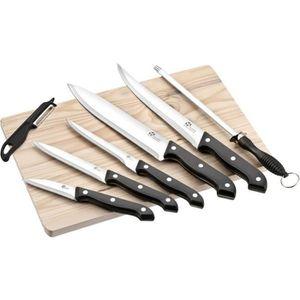 COUTEAU DE CUISINE  PRADEL EXCELLENCE Planche en bois avec 5 couteaux