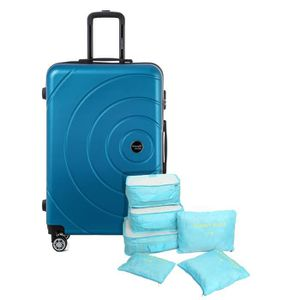 VALISE - BAGAGE TRAVEL WORLD Valise 70 Cm + Set de 6 Organisateurs