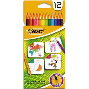 CRAYON DE COULEUR Lot de 3 Etuis 12 crayons de couleur BIC FOR SCHOO