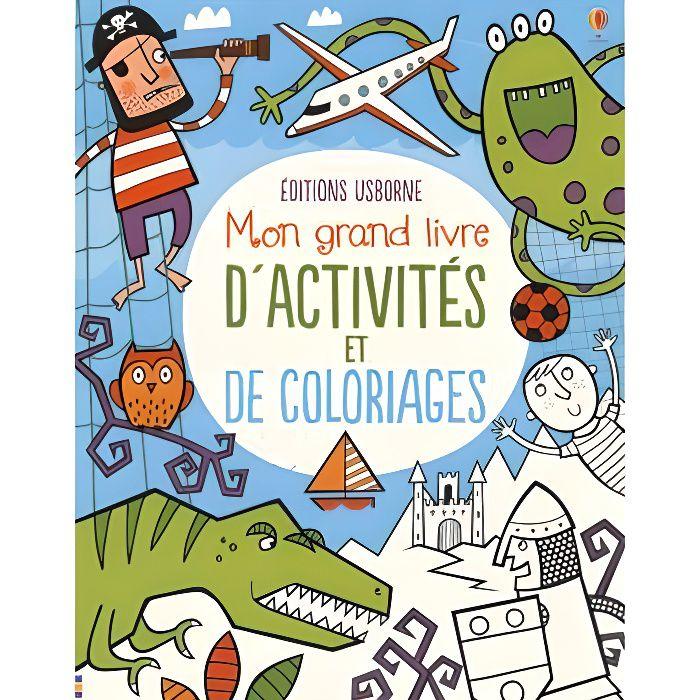 LIVRE JEUX ACTIVITÉS Mon grand livre d'activités et de coloriages