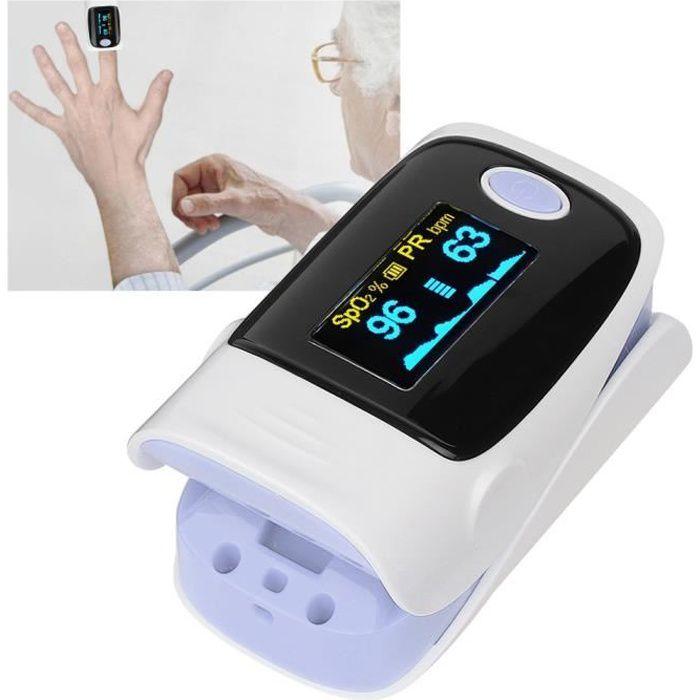 Moniteur saturation en oxygène dans le sang oxymètre pouls portable mesure SPO2 (violet)
