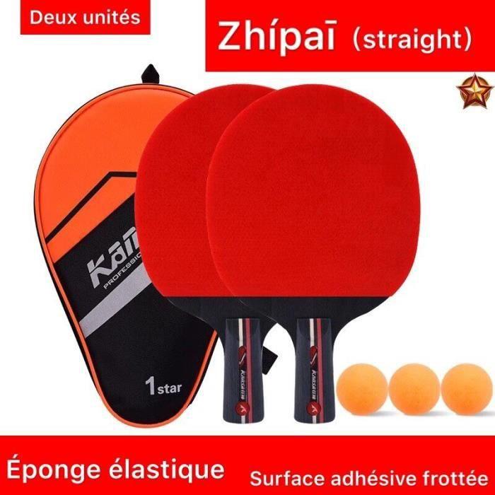 Raquette Tennis de Table, Set De Tennis De Table, 2 Raquette Ping Pong De Peuplier+3 Balle+1 Sac