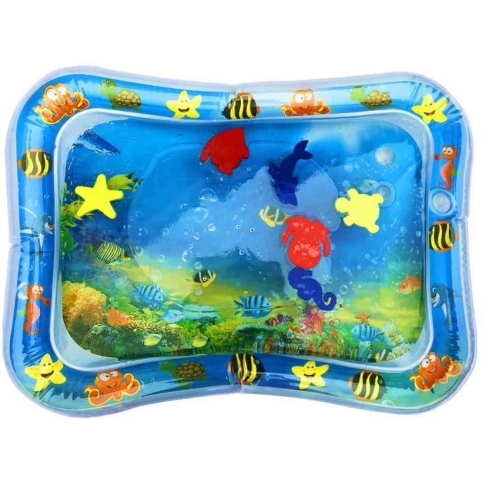 Piscine pataugeoire Ocean Life Tapis d'eau Gonflable de bébé, Centre de Jeu d'activité d'amusement d'activité d'enfant -66x50cm