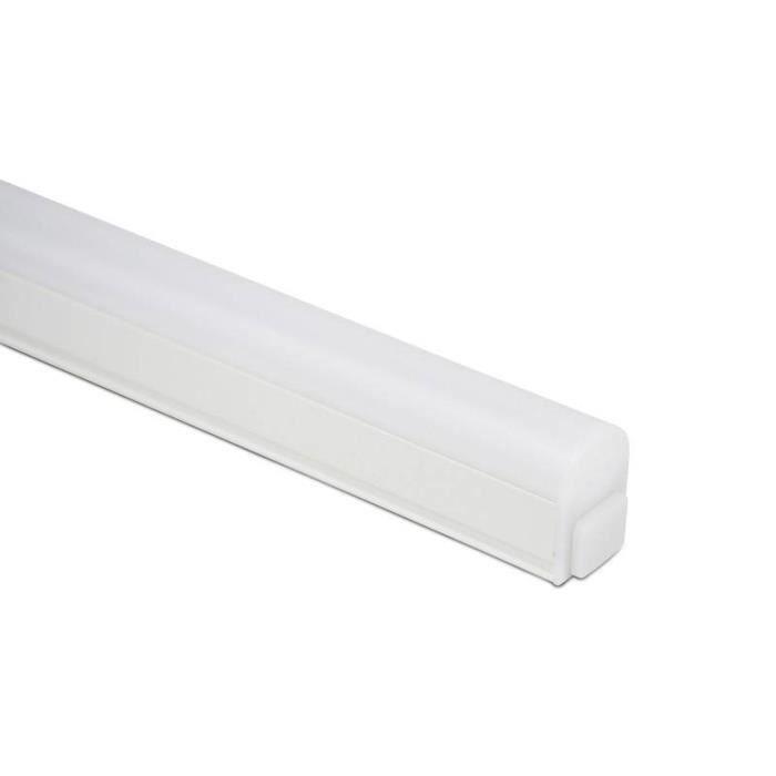 Réglette LED T5 120cm 14W opaque blanc froid 6000K