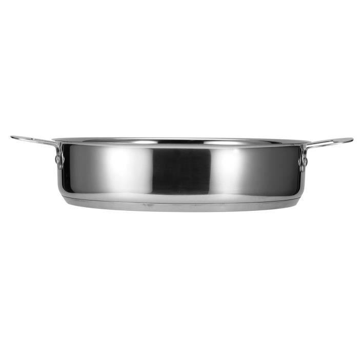 Marmite, casserole, acier inoxydable avec double poignée pour la maison de restaurant