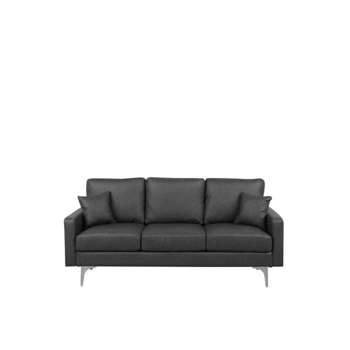 Beliani - Canapé en simili-cuir gris foncé GAVLE