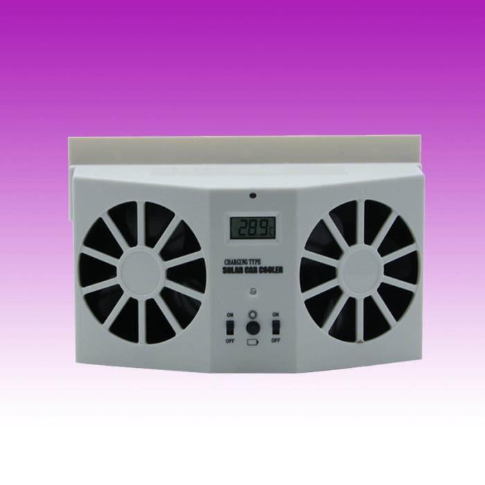 Ventilateur de ventilation de voiture à énergie solaire, chauffage d'appoint pour vehicule confort conducteur passager