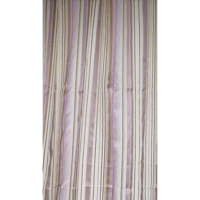 Voilage en organza à rayures Bois de Rose 140 x 260 cm