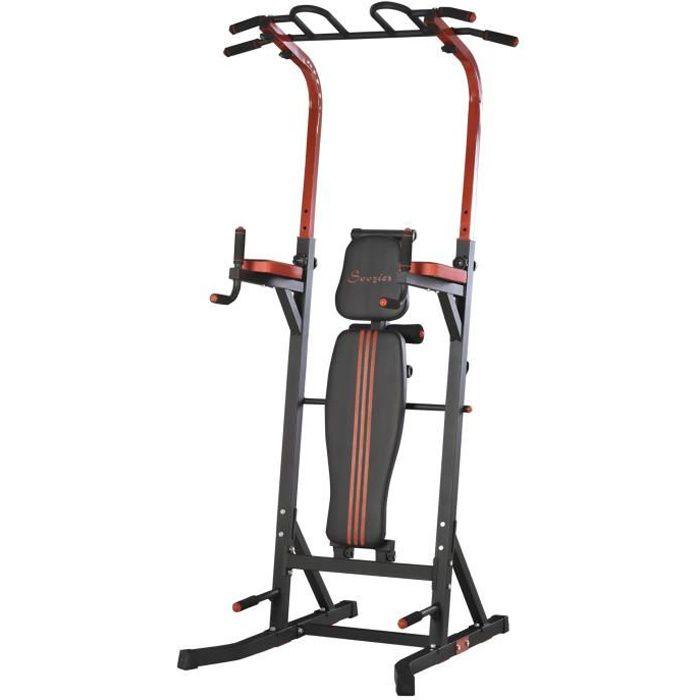 Station de musculation Fitnes 178x108x238cm Rouge