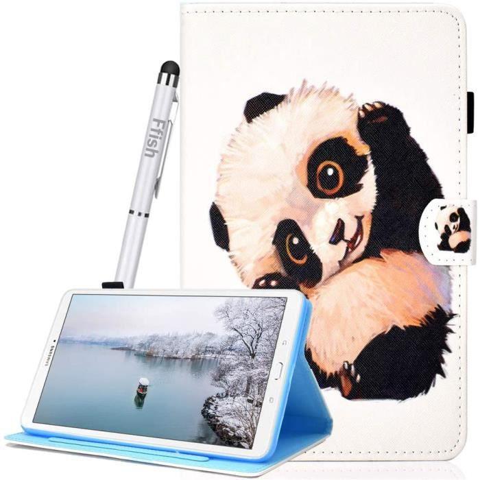 Coque Samsung Galaxy Tab A 10.5 SM-T590 - T595, avec Support et Fentes à Cartes, [Auto Sommeil-Réveil], Housse en Cuir PU +B4944
