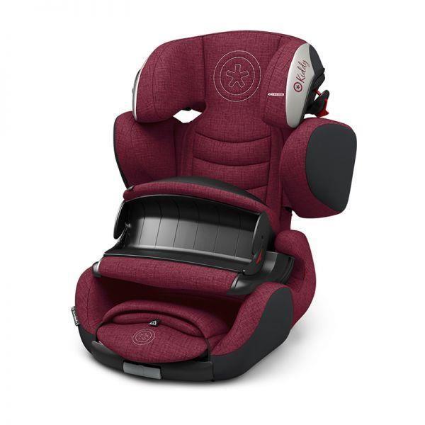 KIDDY Siège auto Guardianfix 3 - Bébé mixte - Mélange betterave rouge et gris glacé