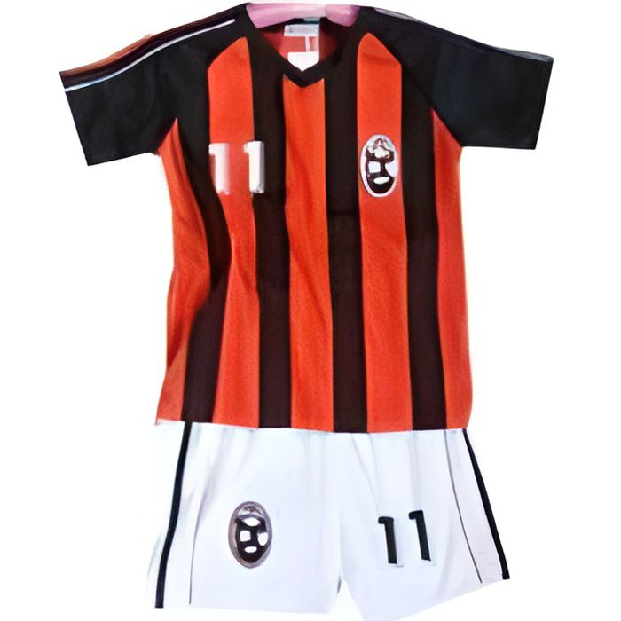 Ensemble enfant football Milan AC foot : Maillot + short