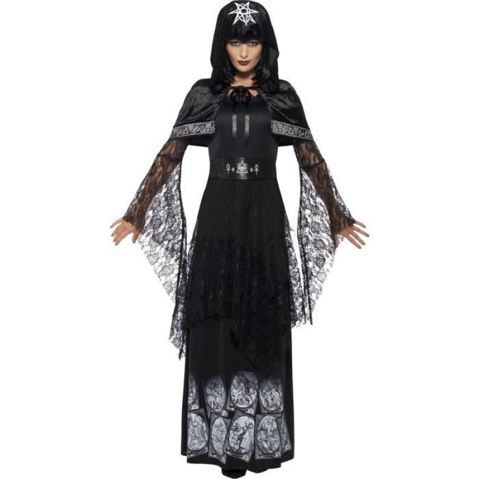 Déguisement maitresse de magie noire adulte Halloween - S