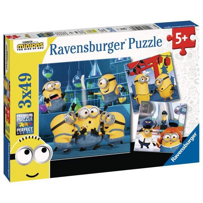 LES MINIONS 2 Puzzles 3x49 pièces - Drôles de Minions - Ravensburger - Lot de puzzles enfant - Dès 5 ans