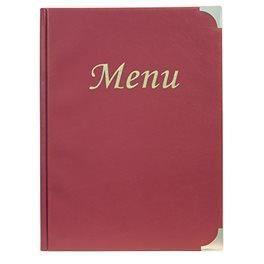 Protège menu basique A4 bordeaux - 1er prix