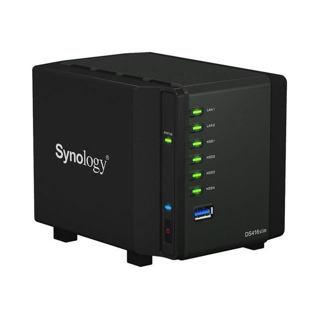 Synology Serveur de Stockage (Nas) Ds416slim 4 Baies Boitier nu