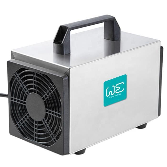 Générateur d'ozone 20.000 mg/h, nettoyeur d'ozone commercial, dispositif d'ozone pour pièces, fumée, voitures et animaux