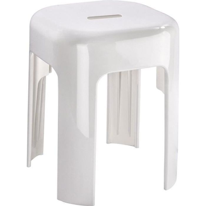 Tabouret de douche, tabouret de salle de bain, plastique, ALASKA WENKO