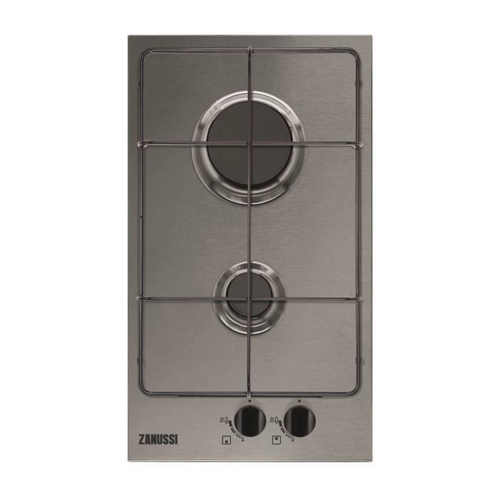 Zanussi ZGG35214XA, Intégré, Cuisinière à gaz, Acier inoxydable, Acier inoxydable, 1000 W, 5,4 cm