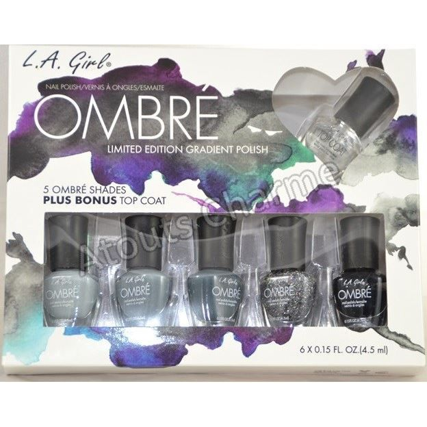 l a girl coffret vernis ongles ombr achat vente vernis a ongles l a girl coffret. Black Bedroom Furniture Sets. Home Design Ideas