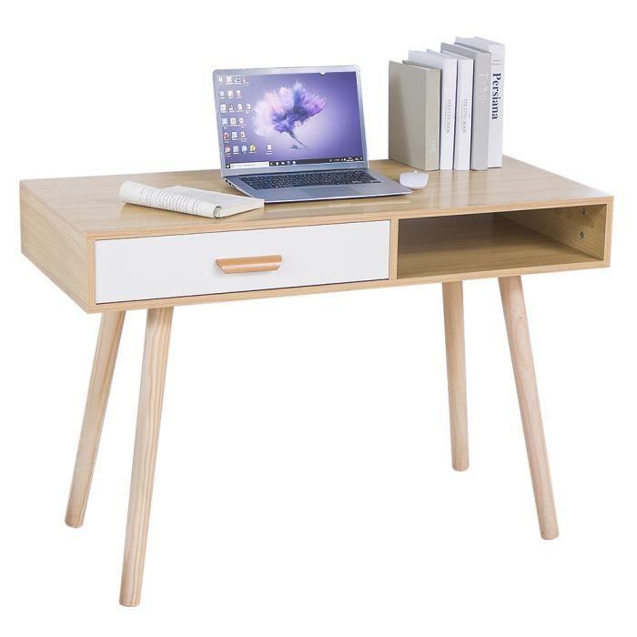 BUREAU  MIXMEST Bureau Avec Pieds de table en bois massif