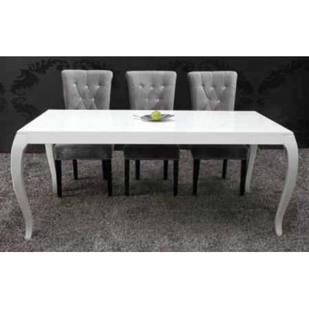 Table Manger Cendrillon Laqu Blanc Achat Vente Table Manger Seule Table Manger