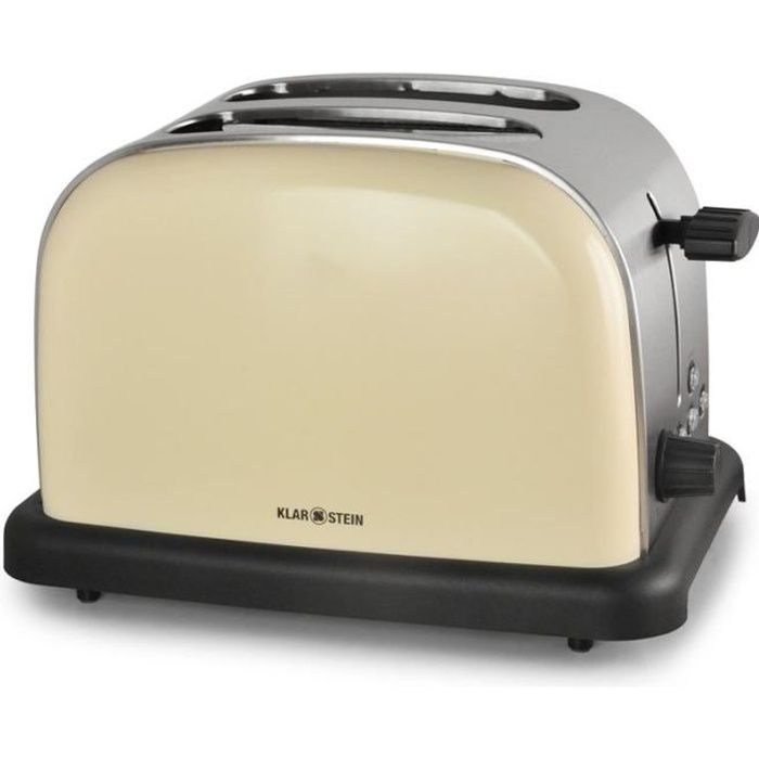 grille pain toaster 2 tranches inox 1000w cr me achat. Black Bedroom Furniture Sets. Home Design Ideas