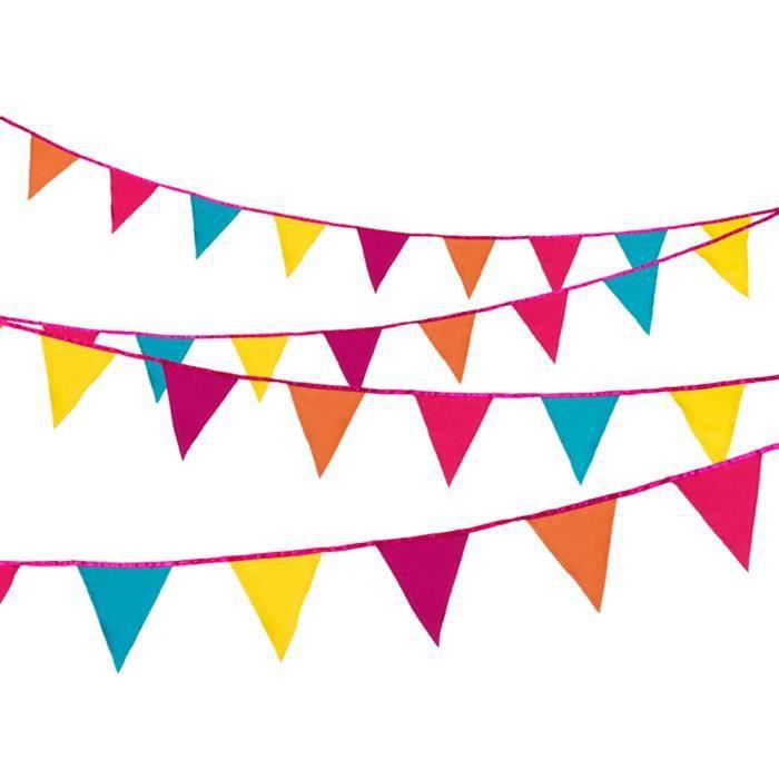 1.2 M Mètre Multicolore Couleur Bunting Drapeaux Bannière Décoration Anniversaire Fête