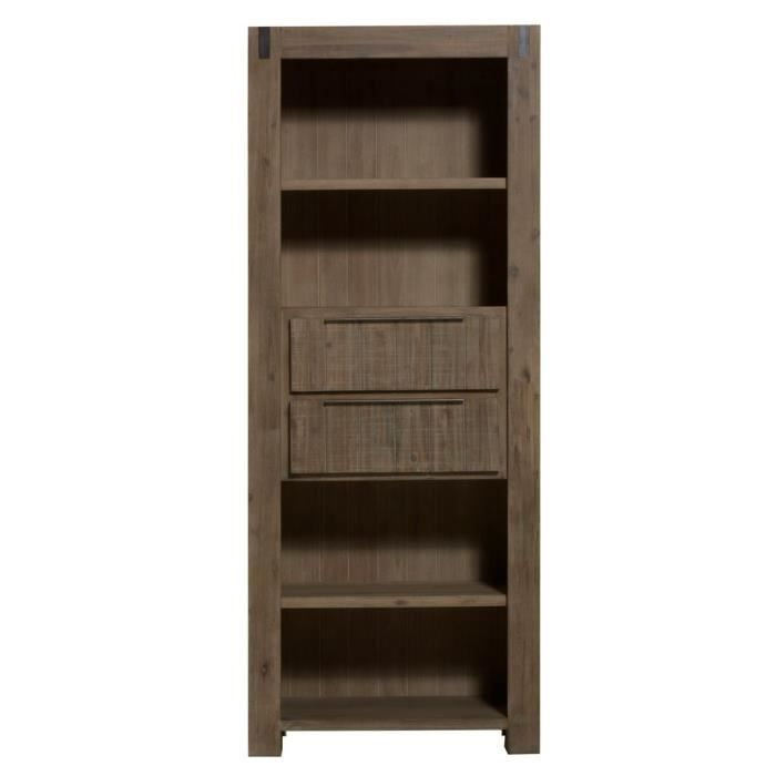 biblioth que 80 cm toronto l 80 x p 40 x h 200 cm misty grey achat vente biblioth que. Black Bedroom Furniture Sets. Home Design Ideas