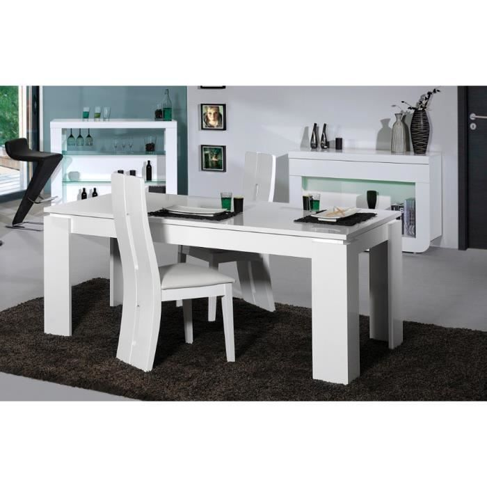 table de salle manger design loyd coloris blanc laqu l 180 220 x p 90 x h 76 cm achat. Black Bedroom Furniture Sets. Home Design Ideas