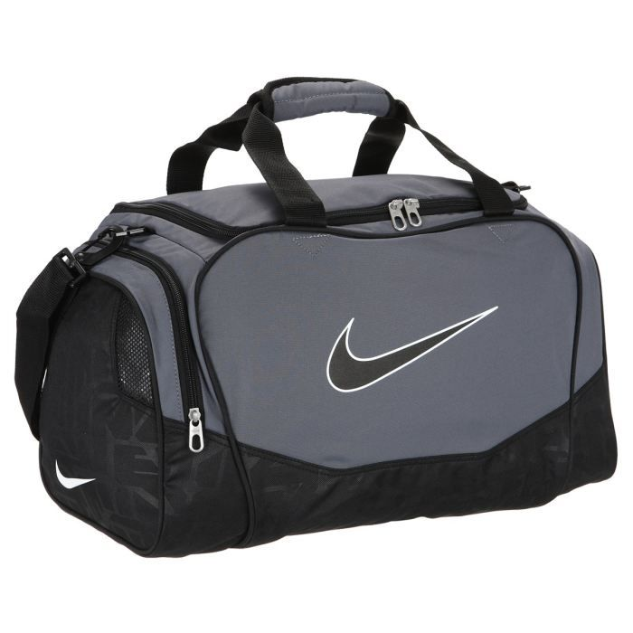 nike sac de sport brasilia 5 small duffel gris et noir achat vente sac de sport. Black Bedroom Furniture Sets. Home Design Ideas