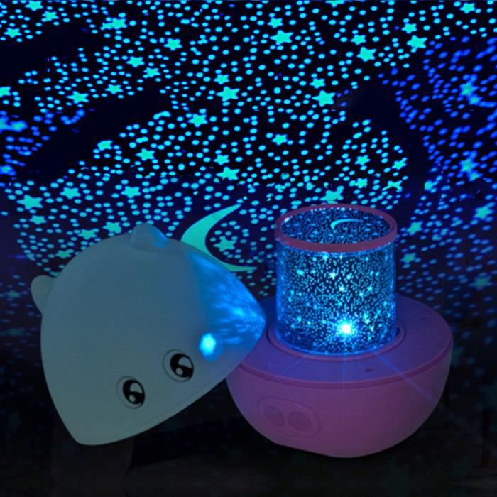 cochon projecteur led lampe rotatif toile ciel no l lumi re t l commande 3 couleur bleu achat. Black Bedroom Furniture Sets. Home Design Ideas