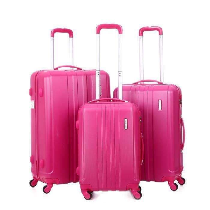 SET DE VALISES Lot de 3 valises rigides 17003 77, 67 et 57 cm Ros