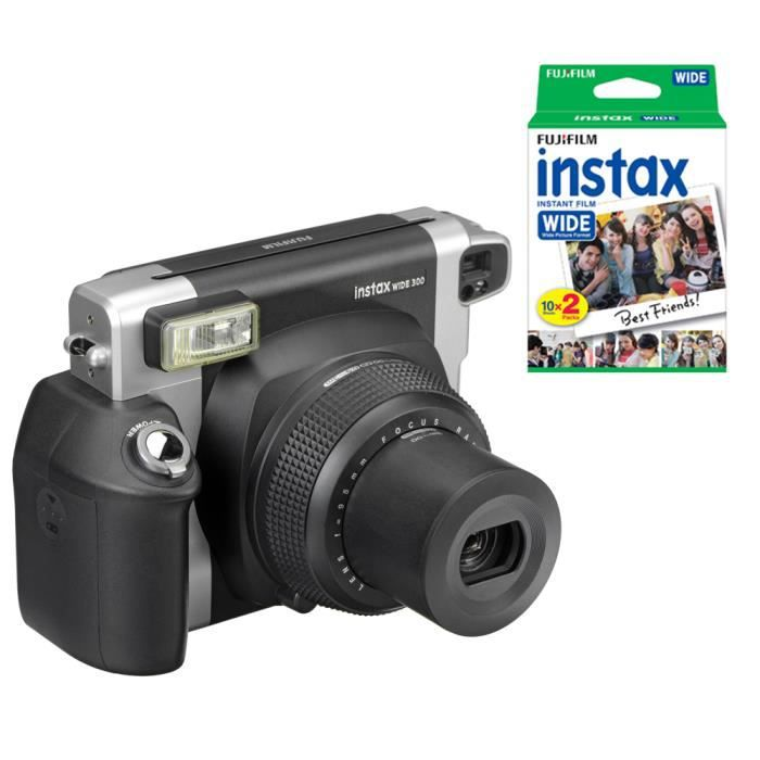 c69c07b3ba86a4 Fujifilm Instax Wide 300 Appareil photo instantané plus Fuji 20 Photo  Instant films