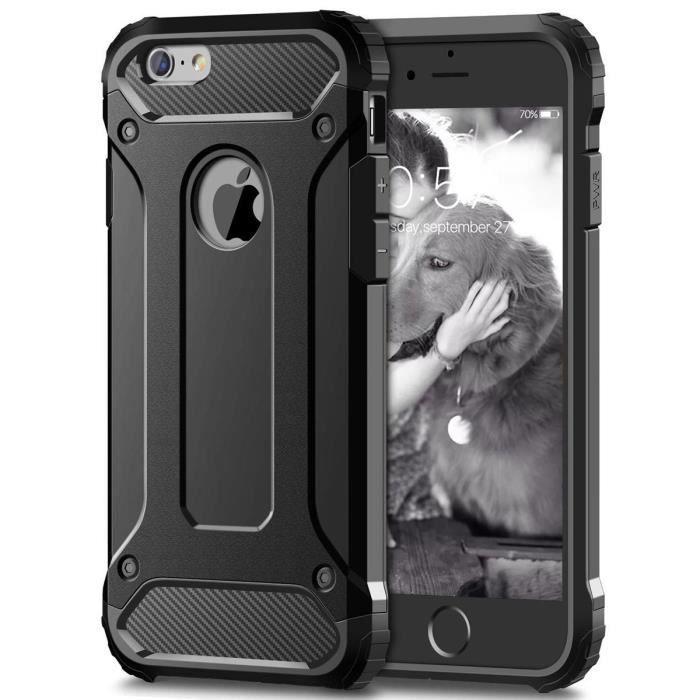 GrandEver Coque iPhone 6 Noir TPU&PC Bumper Anti Choc Protection ...