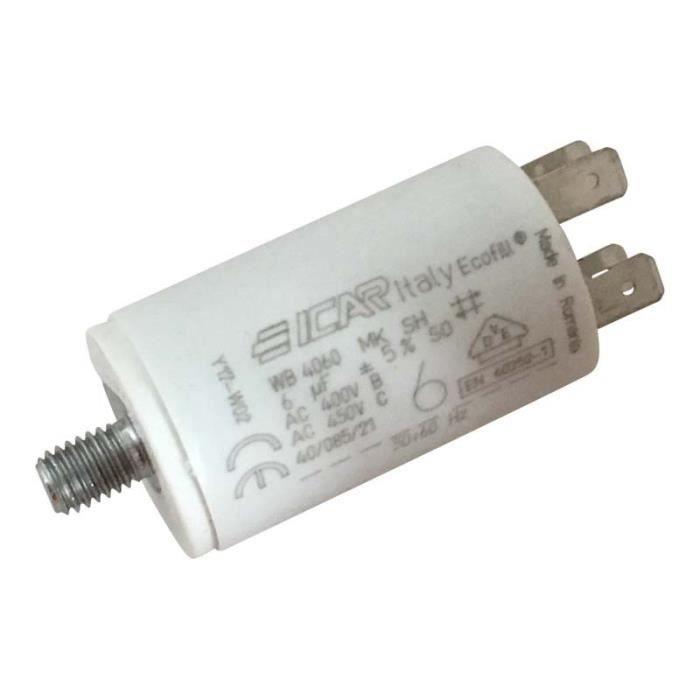 6uF pour moteur électroménager Condensateur de démarrage de 6μF